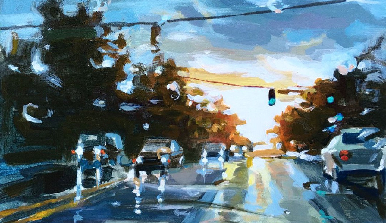 Rainy Day II - Daily Painting by Shineh (oil on canvas)