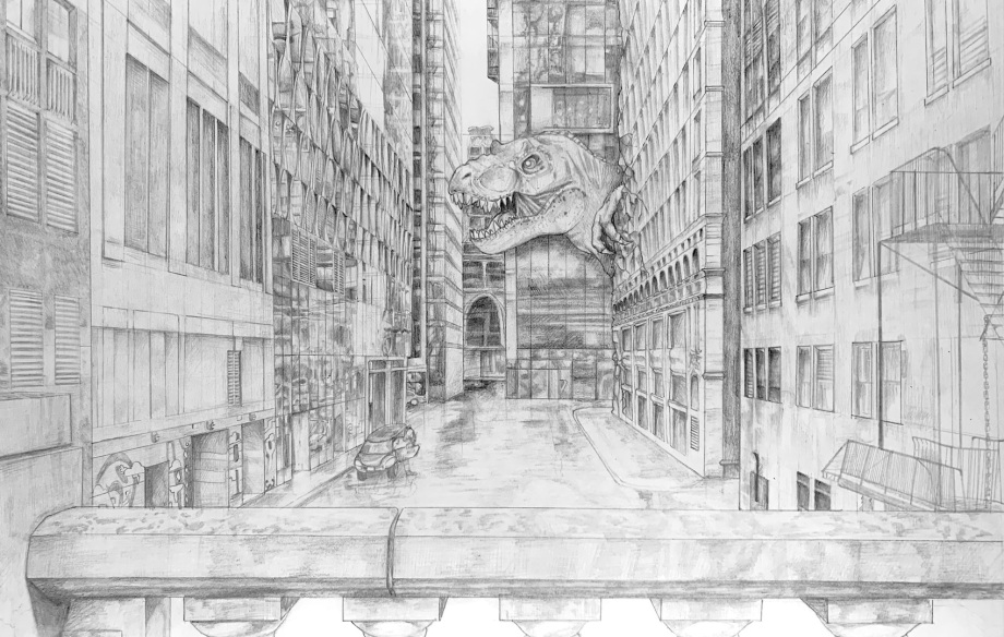 ^ A pencil drawing by Andrea K. 8th grade